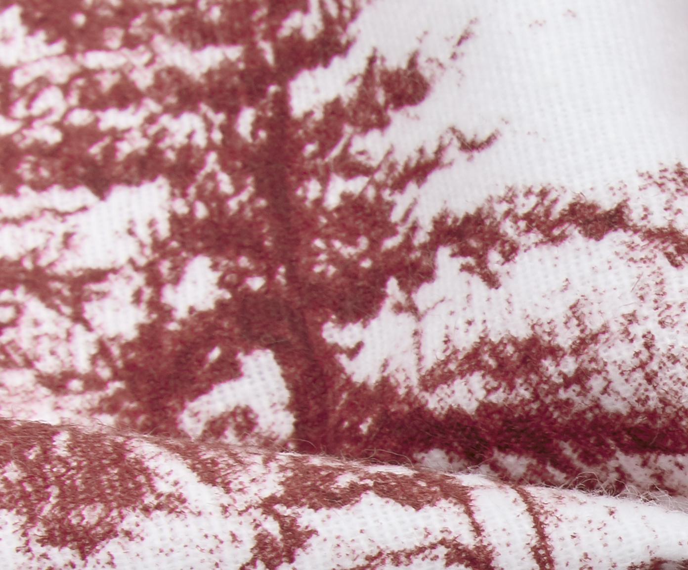 Pościel z flaneli Nordic, Czerwony, biały, 240 x 220 cm