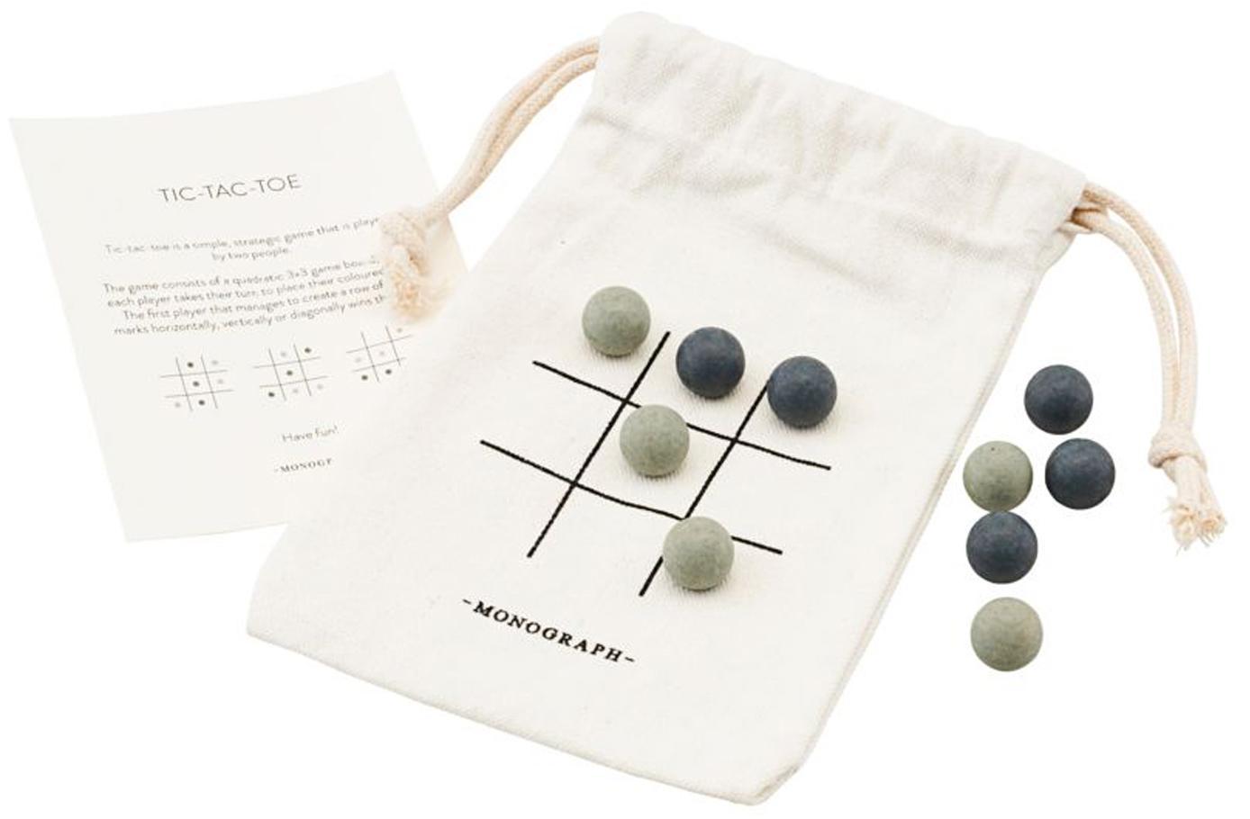 Bordspel Tic Tac Toe, 10-delig, Textiel, hout, Multicolour, 10 x 12 cm