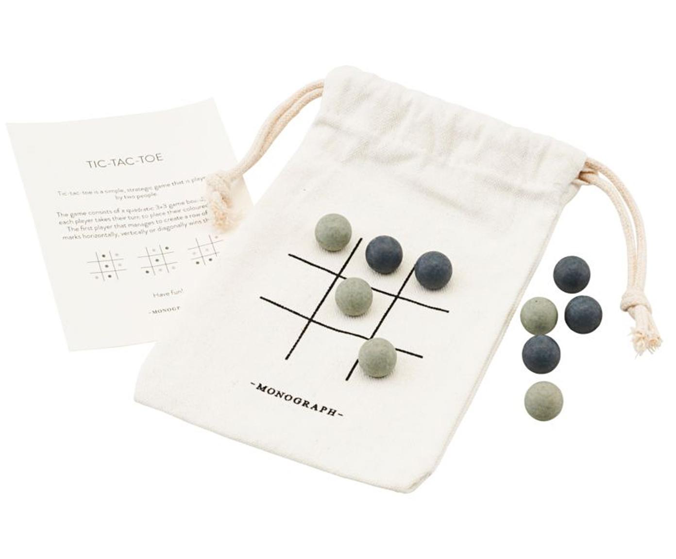Gra planszowa Tic Tac Toe, 10 elem., Tkanina, drewno naturalne, Wielobarwny, S 10 x W 12 cm