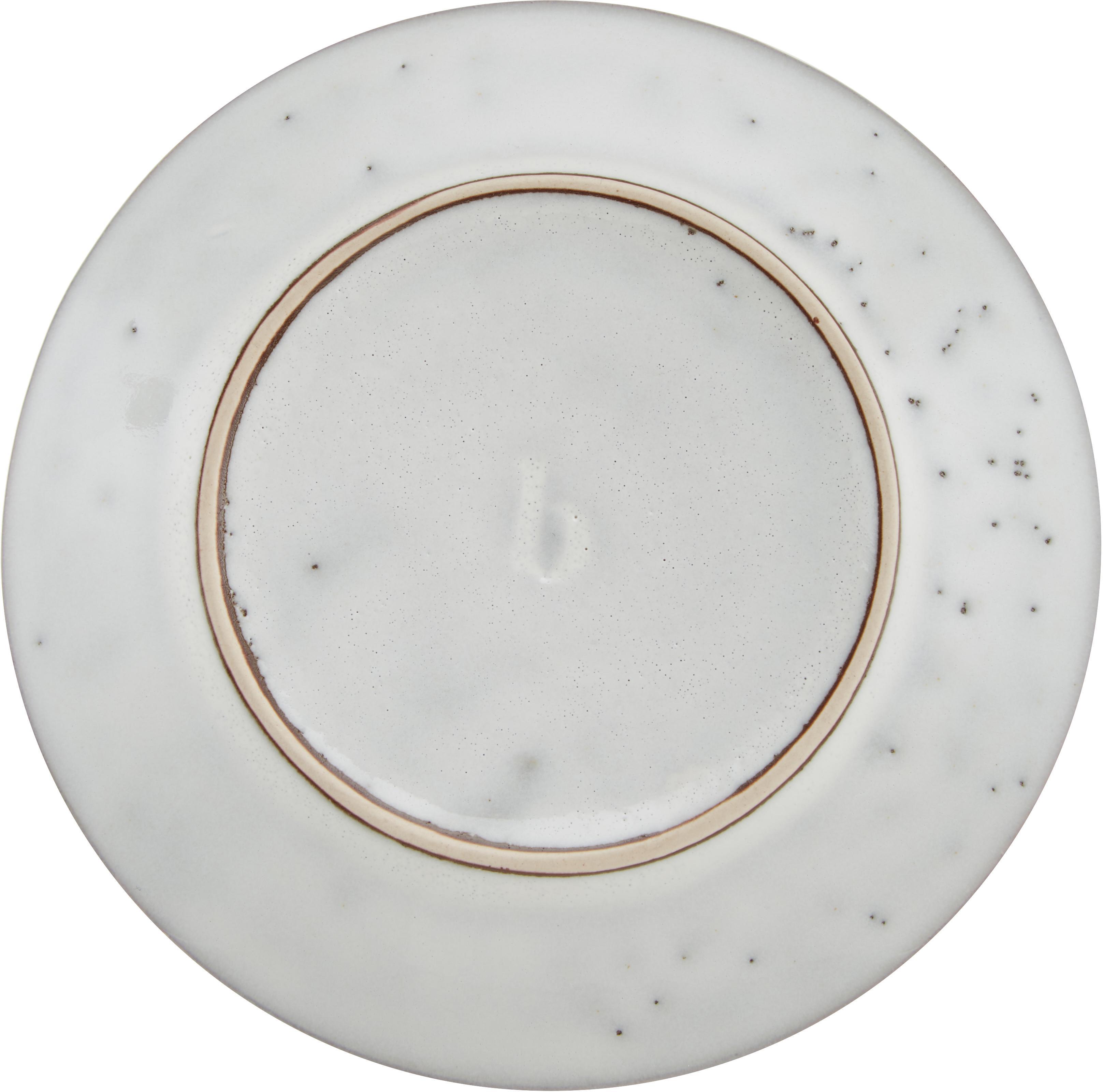 Handgemaakt kopje met schoteltje Nordic Sand, Keramiek, Zandkleurig, Ø 14 x H 9 cm