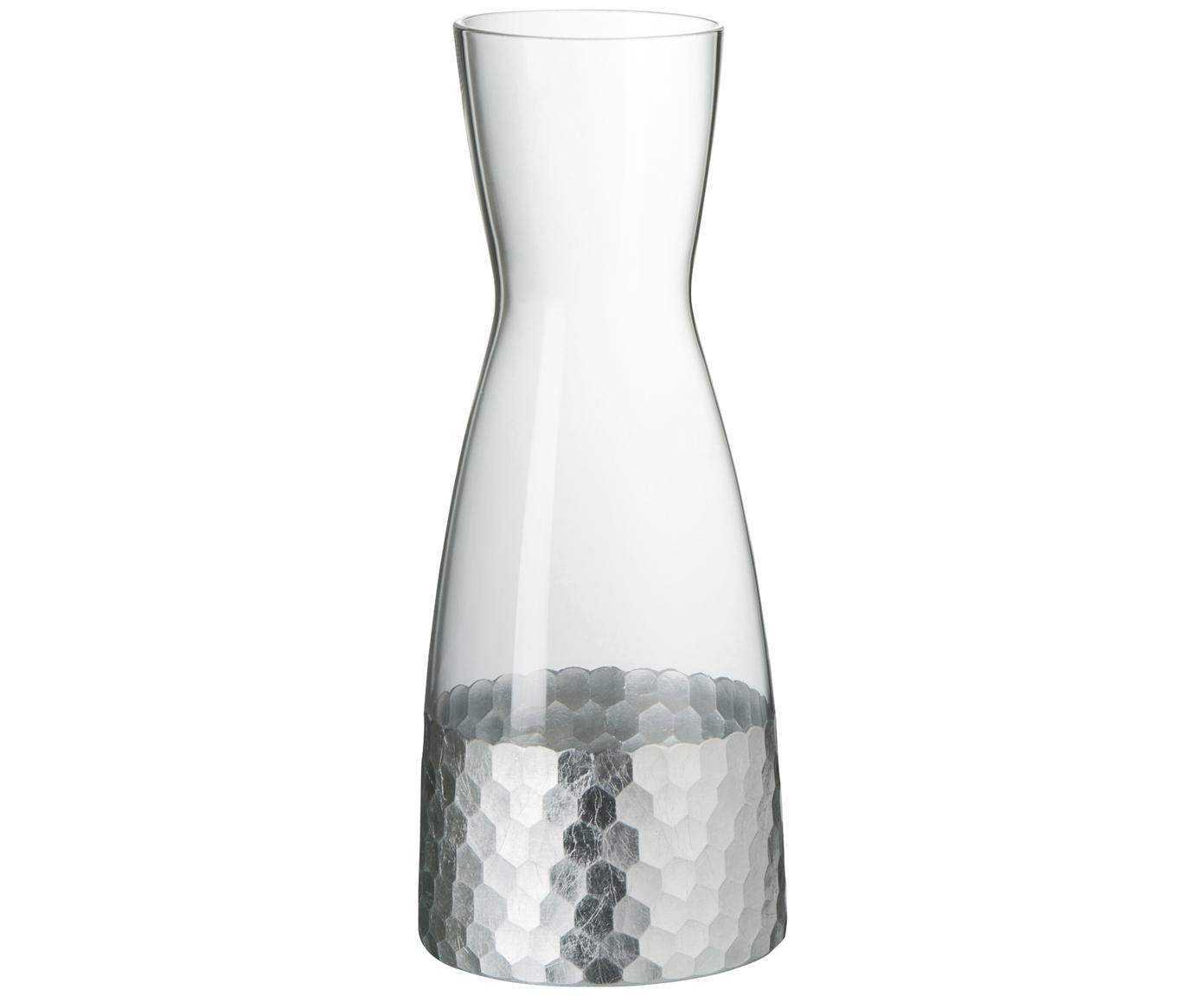 Karaf Wasp, Glas, Transparant, zilvergrijskleurig, 1.15 L
