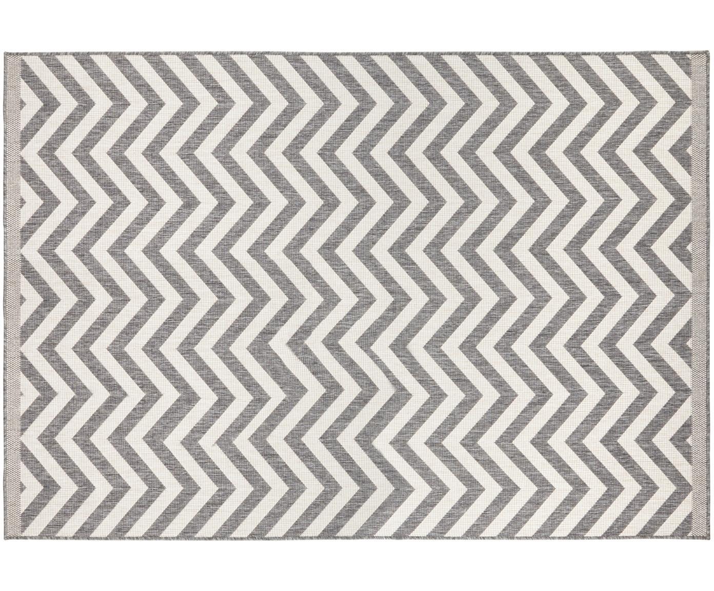 Dwustronny dywan wewnętrzny/zewnętrzny Palma, Szary, kremowy, S 160 x D 230 cm (Rozmiar M)