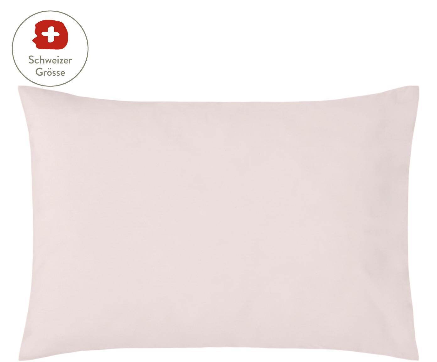 Baumwollperkal-Kissenbezug Elsie in Rosa, Webart: Perkal Fadendichte 200 TC, Rosa, 50 x 70 cm