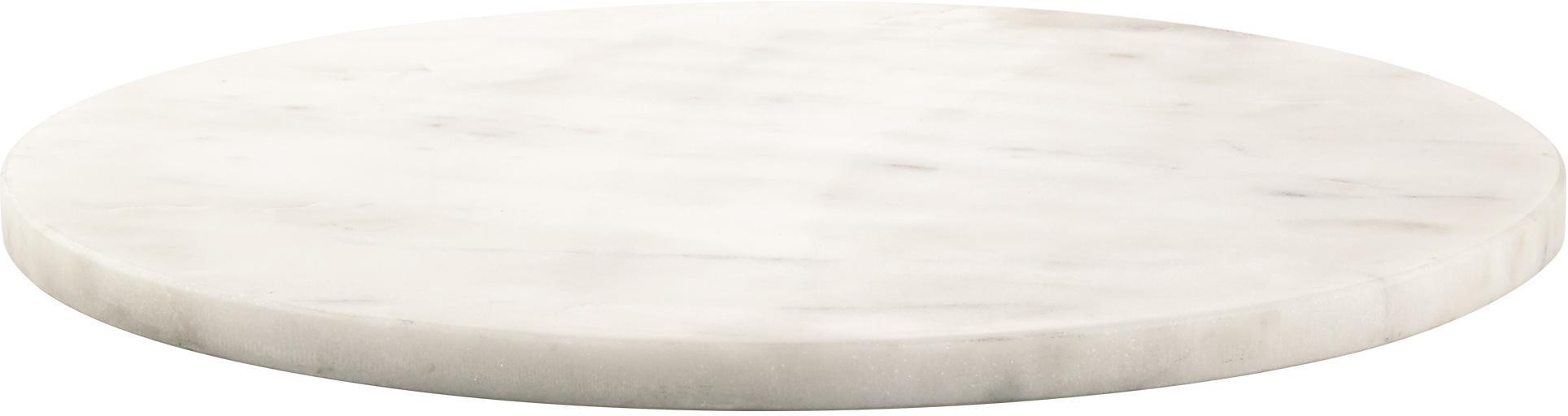 Marmeren serveerplateau Minu, Marmer, Wit, Ø 30 cm