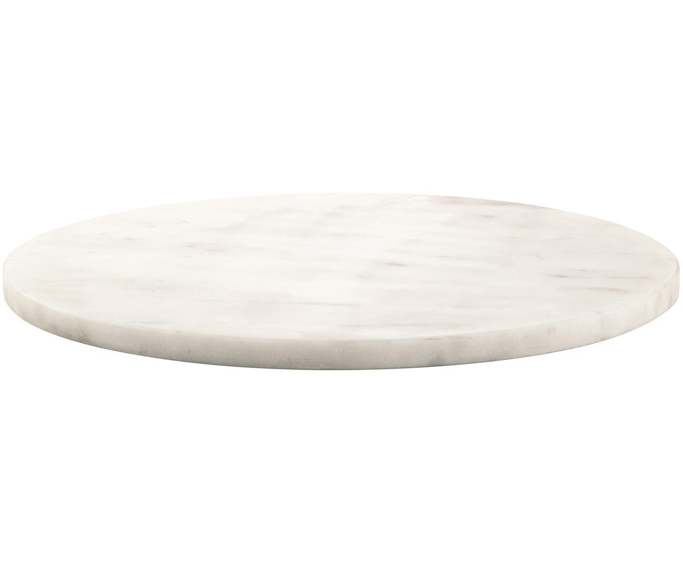 Piatto da portata in marmo Minu, Marmo, Bianco, Ø 30 cm