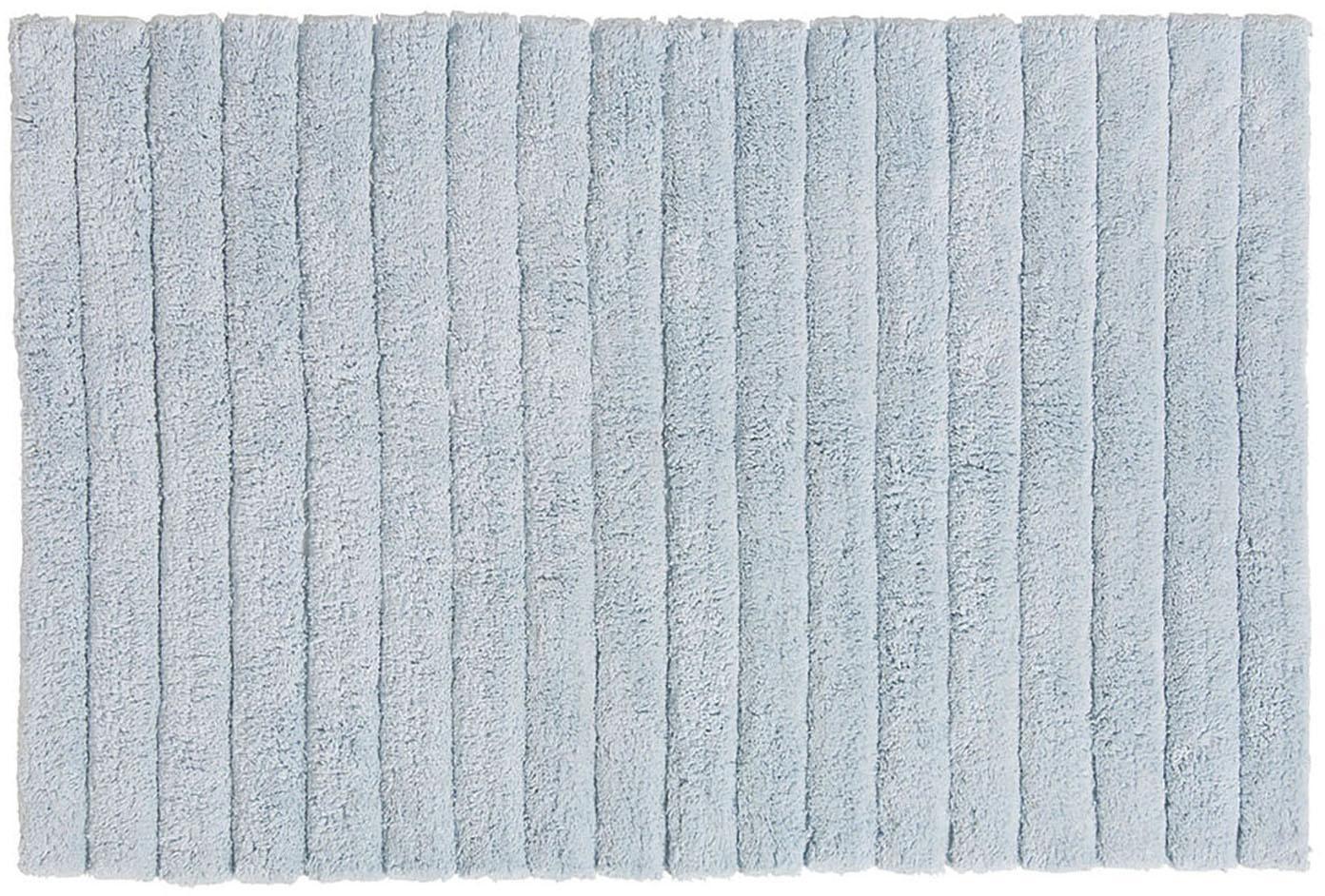 Flauschiger Badvorleger Board, 100% Baumwolle, schwere Qualität, 1900 g/m², Hellblau, 60 x 90 cm