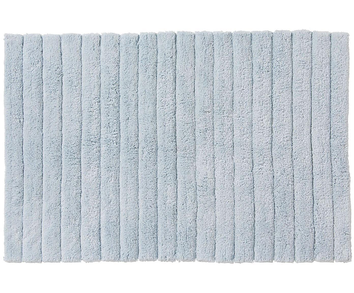 Tappeto bagno morbido Board, Cotone, qualità pesante 1900g/m², Azzurro, Larg. 60 x Lung. 90 cm