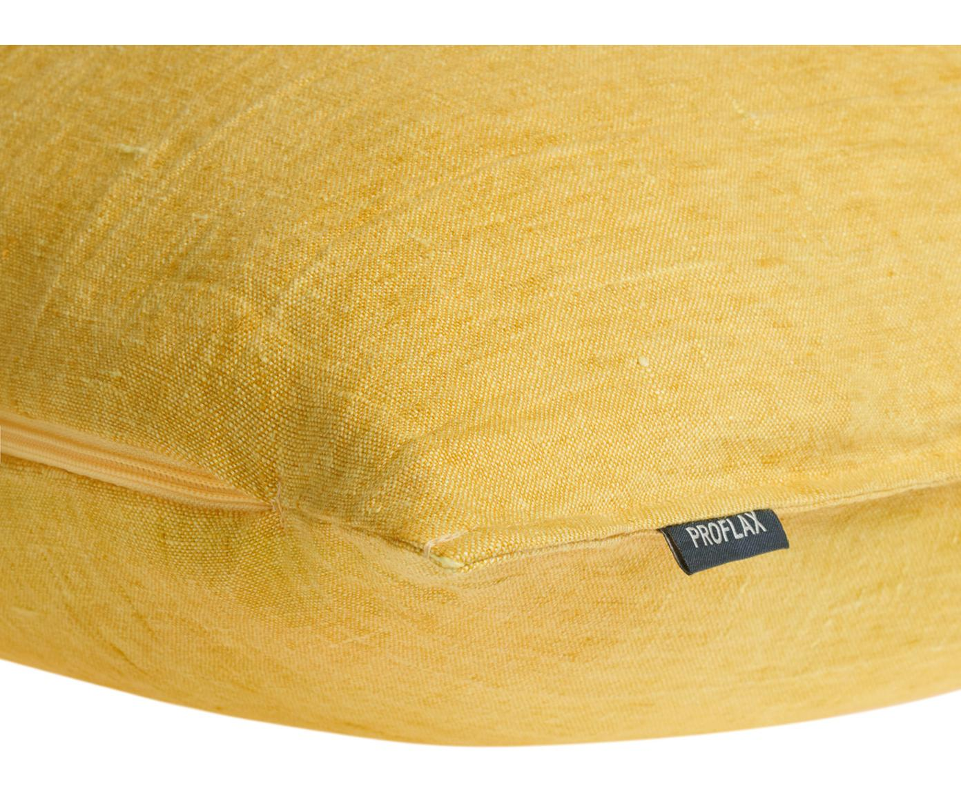 Poszewka na poduszkę z lnu Sven, Len, Brunatnożółty, S 60 x D 60 cm
