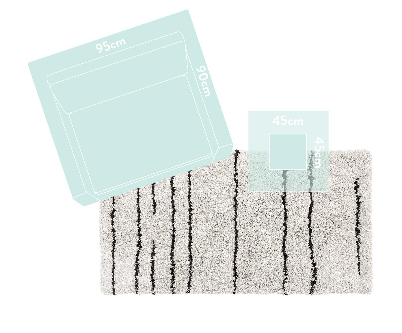 Ręcznie tuftowany dywan Dunya, Beżowy, czarny, S 200 x D 300 cm