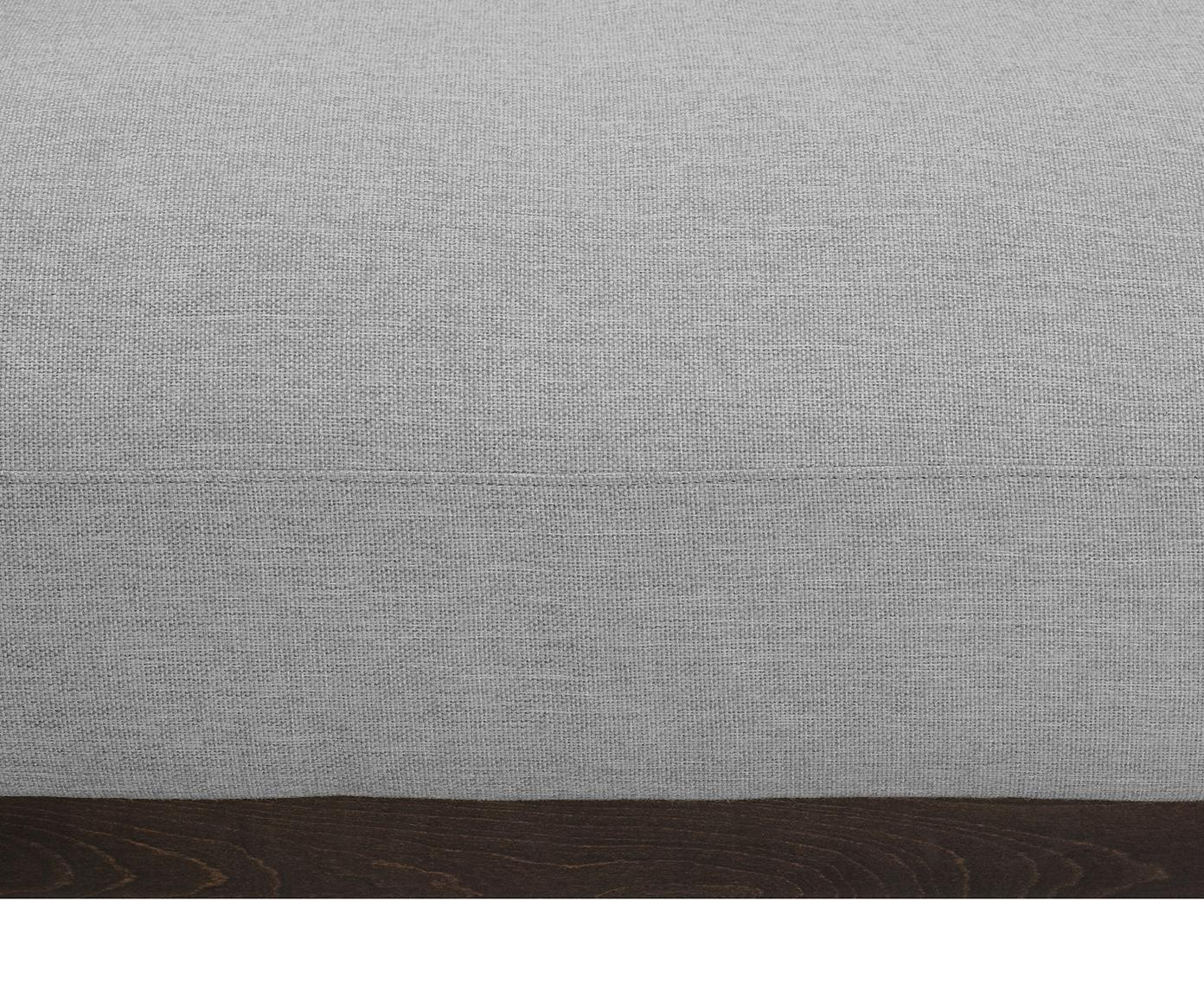 Sofa Brooks (3-osobowa), Tapicerka: poliester 35000 cykli w , Stelaż: lite drewno sosnowe, Nogi: metal malowany proszkowo, Szary, S 230 x G 98 cm