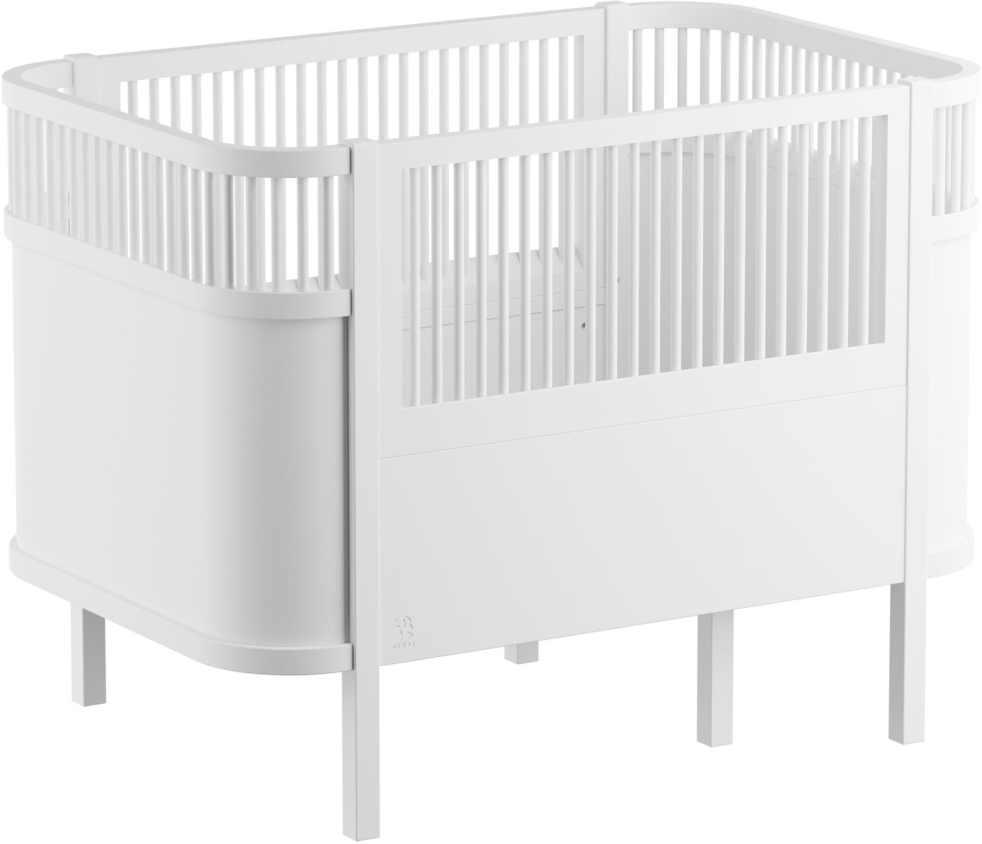Łóżko dla dzieci Junior, Drewno brzozowe, lakierowane, Biały, S 115 x W 88 cm