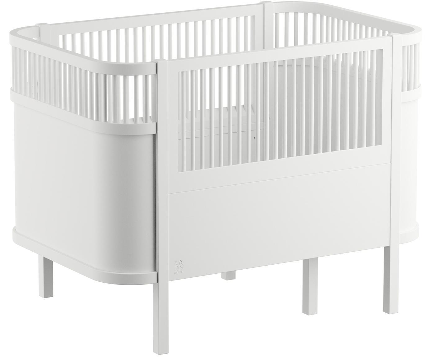Babybed Junior, Gelakt berkenhout, Wit, 115 x 88 cm