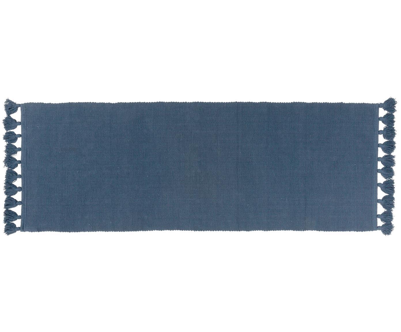Loper Homer, Katoen, Indigo, 70 x 216 cm