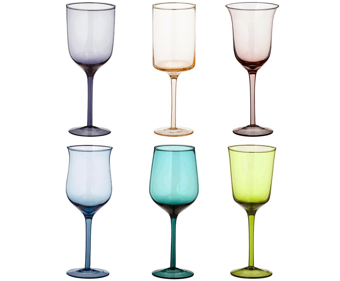 Komplet kieliszków do wina Desigual, 6elem., Szkło, Wielobarwny, W 24 cm