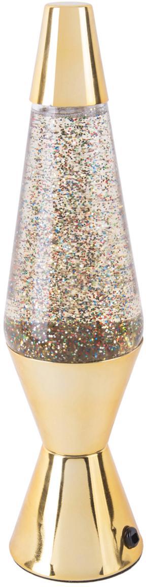 Tafellamp Glitter, Gecoat metaal, Goudkleurig, Ø 10 x H 37 cm