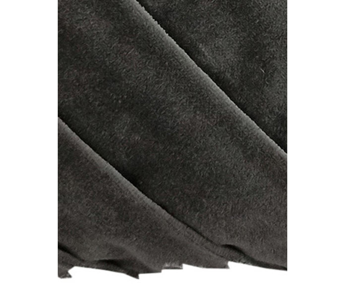 Kissen Folded mit Struktur-Oberfläche, mit Inlett, Bezug: 100% Baumwolle, Grau, 30 x 50 cm