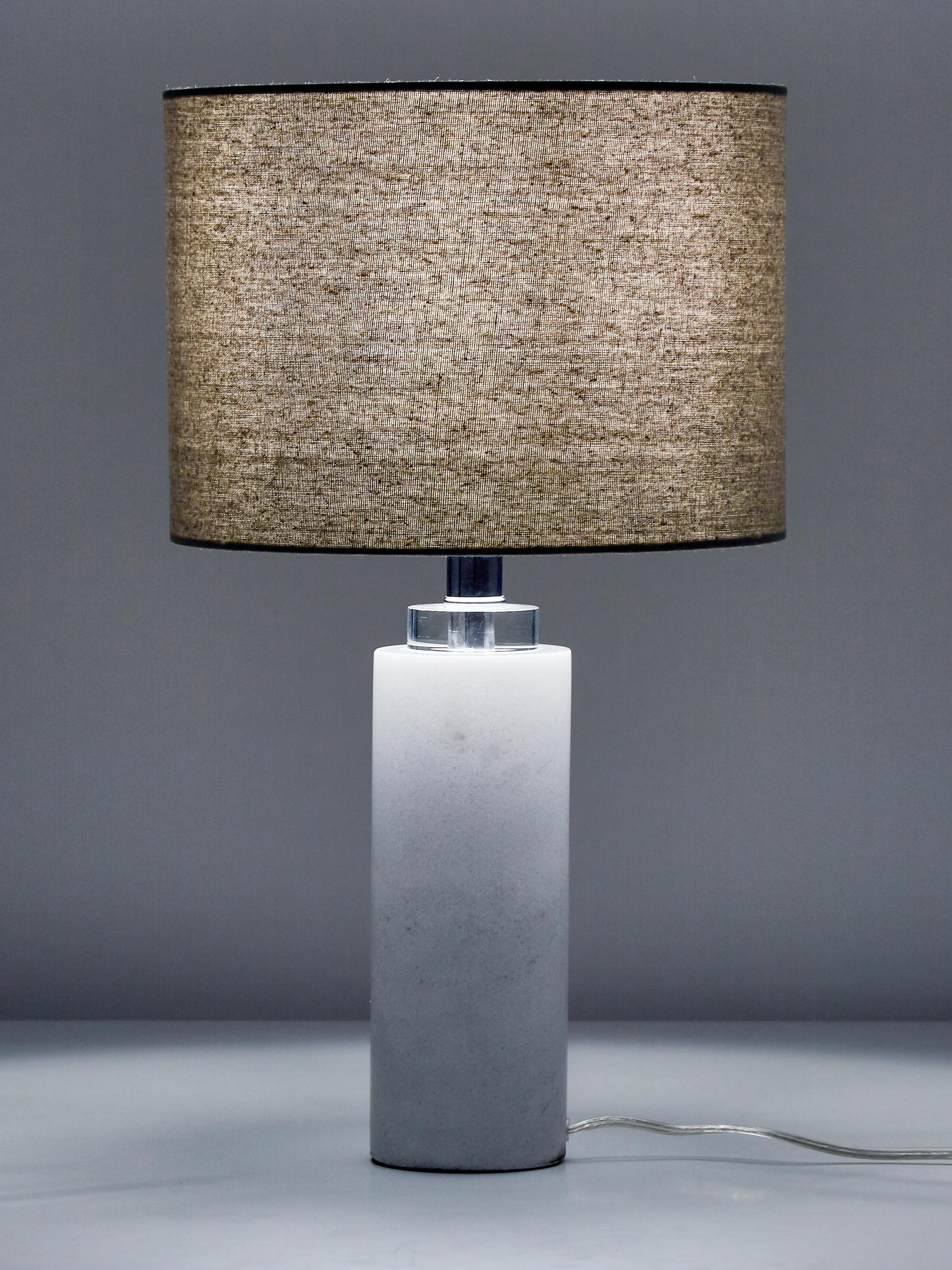 Lampe à poser en marbre Amanda, Blanc