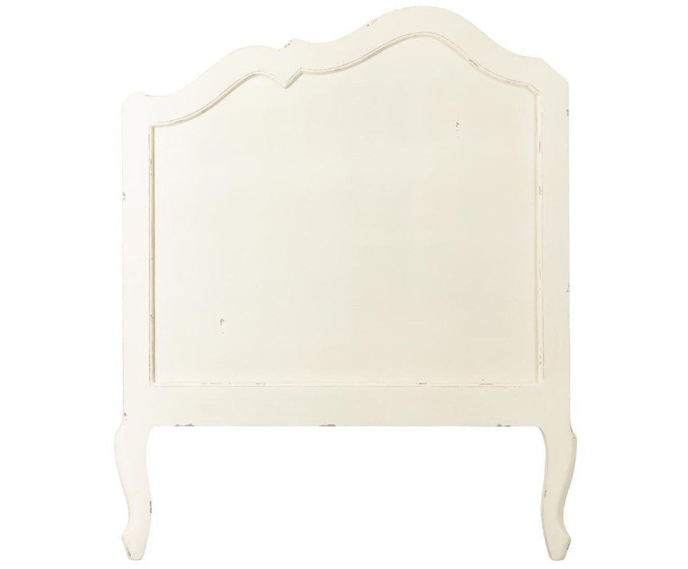 Cabecero Harpe, Tablero de fibras de densidad media (MDF), Blanco, An 105 x Al 125 cm