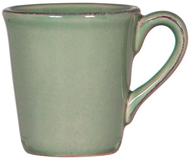 Espressokopjes Constance, 2 stuks, Keramiek, Saliegroen, Ø 8 x H 6 cm