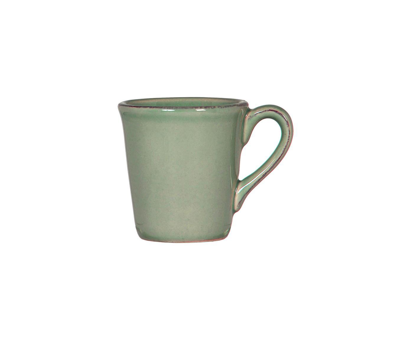 Tazas de café Constance, 2uds., Cerámica, Verde salvia, Ø 8 x Al 6 cm