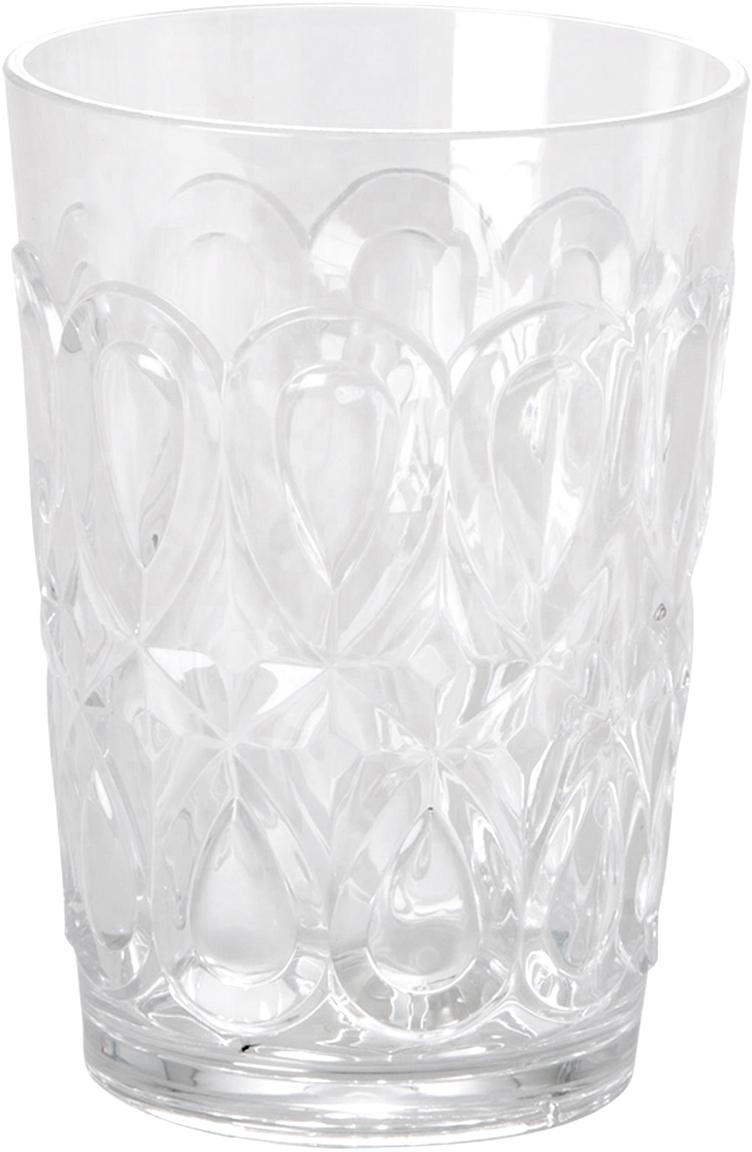 Vasos acrílico Swirly, 2uds., Acrílico, Transparente, Ø 9 x Al 12 cm