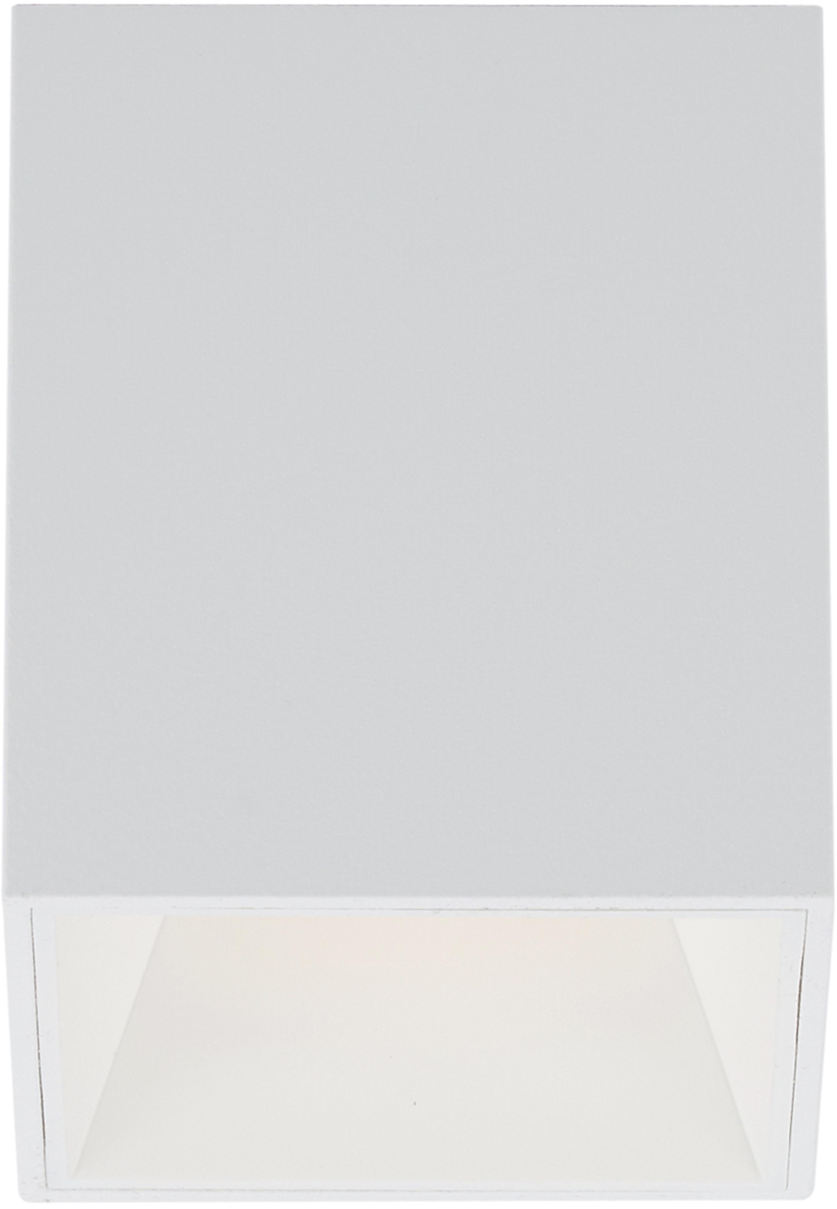 Plafondlamp Marty, Gepoedercoat metaal, Mat wit, 10 x 12 cm