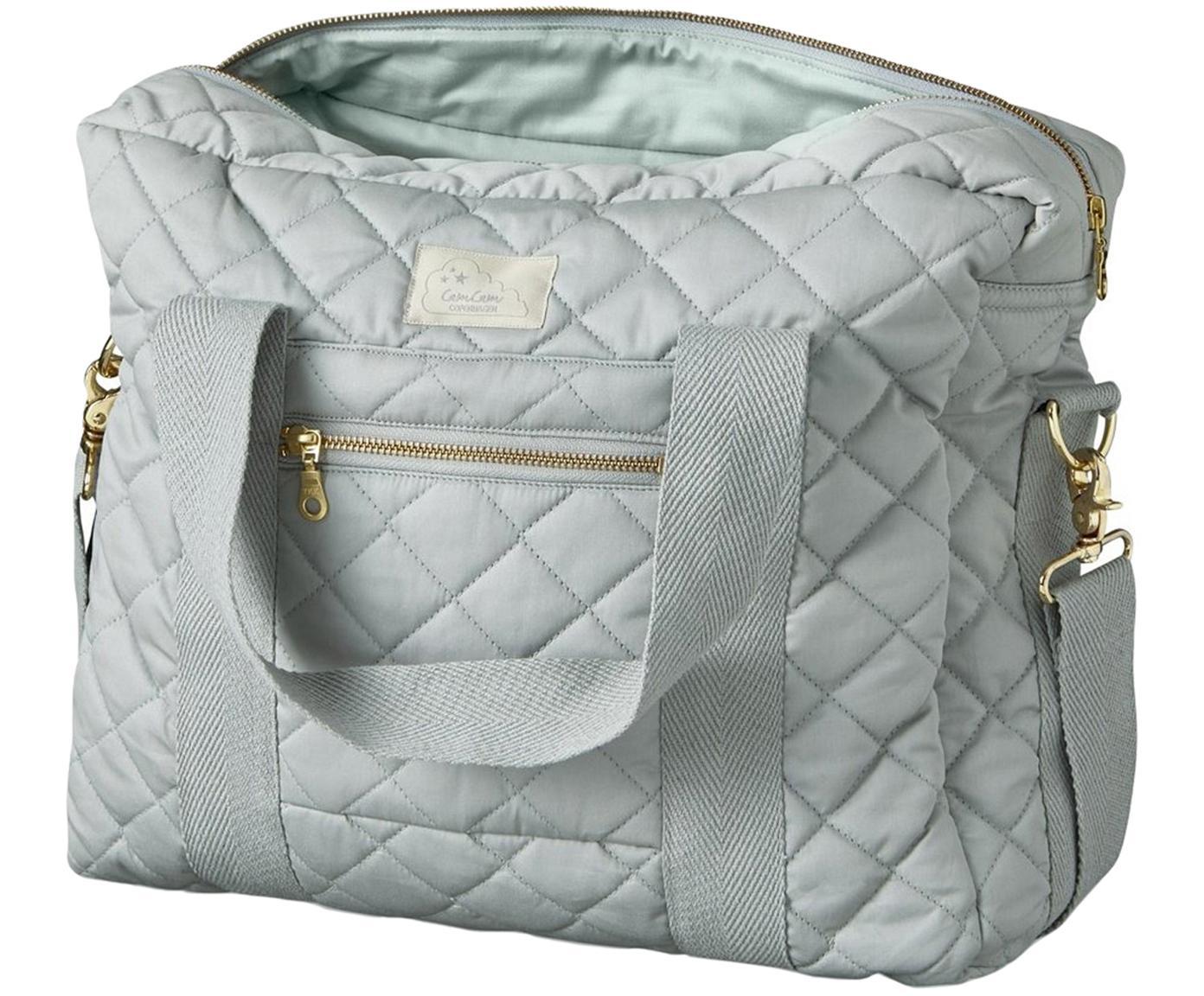 Bolsa para pañales de algodón ecológico Camila, Exterior: algodón ecológico, certif, Gris claro, An 39 x Al 31 cm