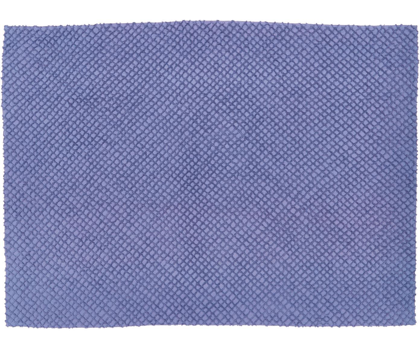 Narzuta z wypukłym wzorem Royal, Bawełna, Niebieski, S 180 x D 260 cm