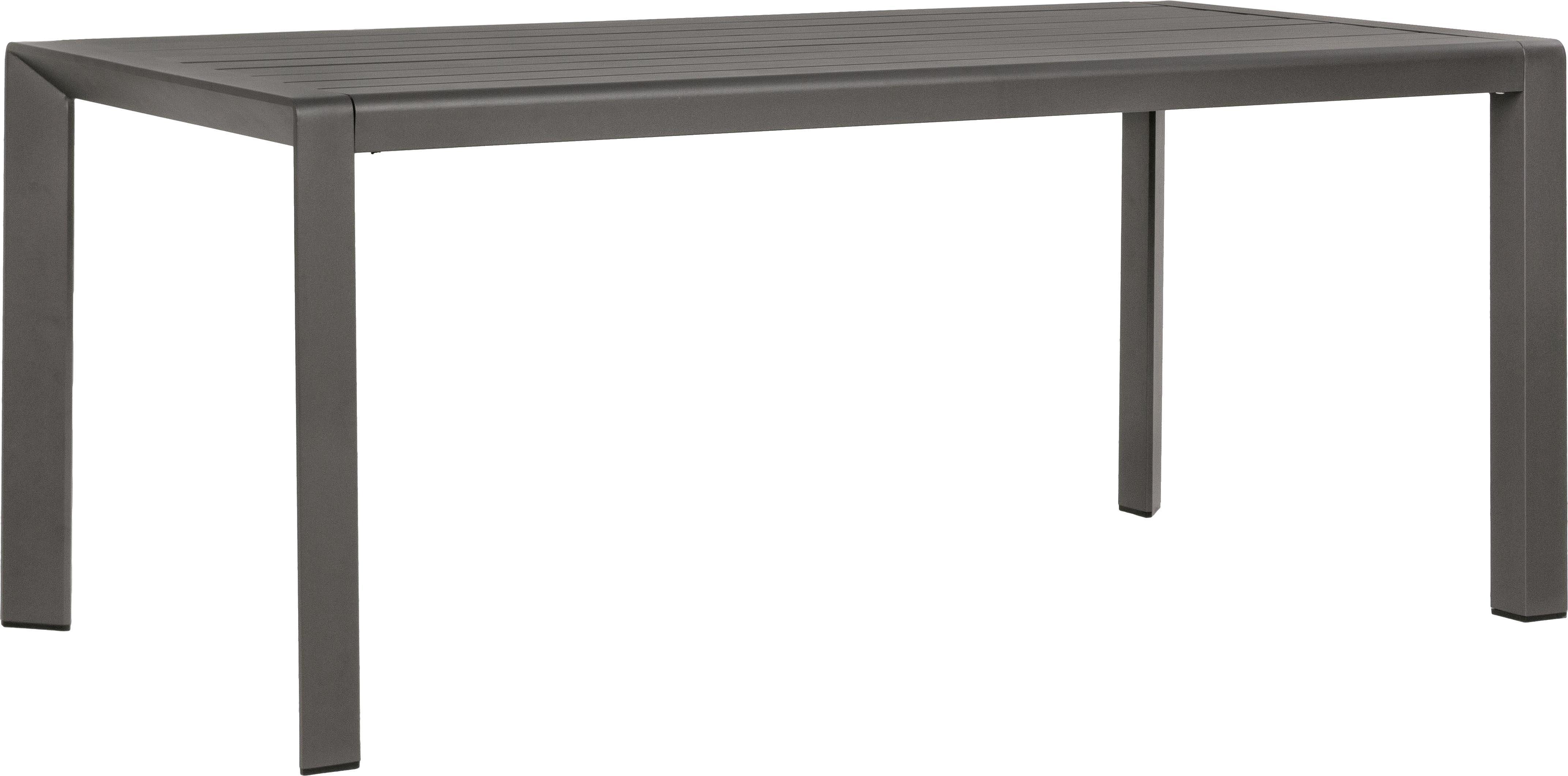 Tavolo da giardino Kirby, Alluminio verniciato a polvere, Antracite, Larg. 180 x Prof. 90 cm