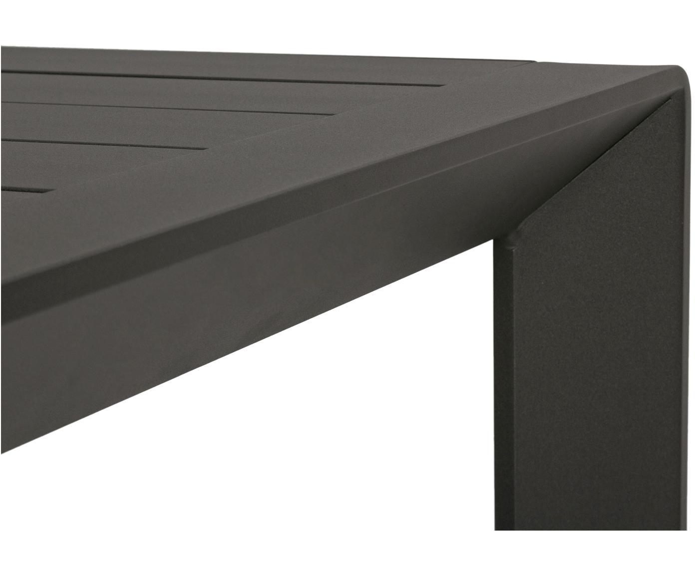 Tuintafel Kirby, Gepoedercoat aluminium, Antraciet, B 180 x D 90 cm