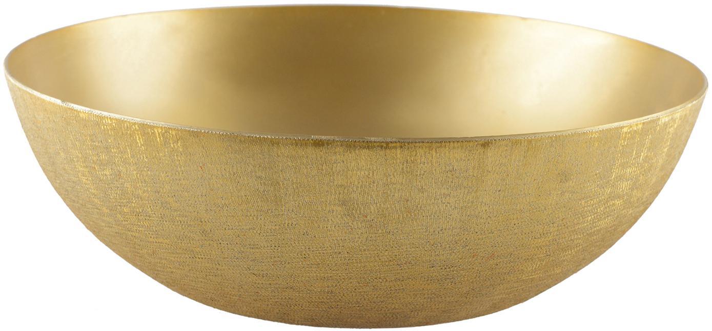 Centrotavola dorata Simple, Alluminio rivestito, Dorato, spazzolato, Ø 25 x Alt. 8 cm