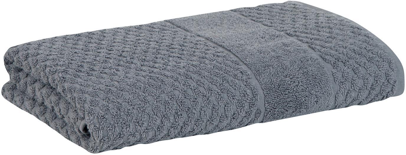 Handdoek Katharina, 100% katoen, Middelzware kwaliteit 500 g/m², Donkergrijs, Handdoek
