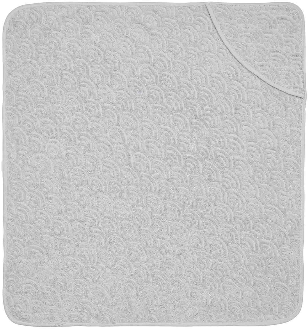 Badcape Wave Fluff, Organisch katoen, Grijs, 105 x 105 cm