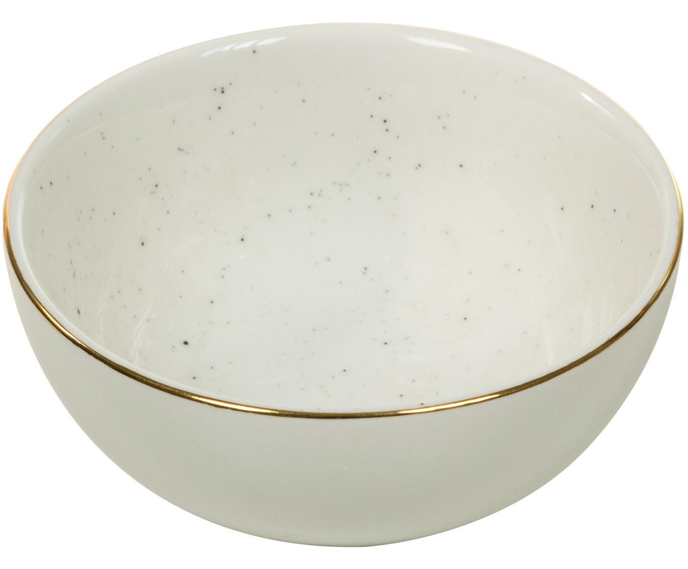 Ręcznie wykonana miska Bol, 2 szt., Porcelana, Kremowobiały, Ø 10 x W 6 cm