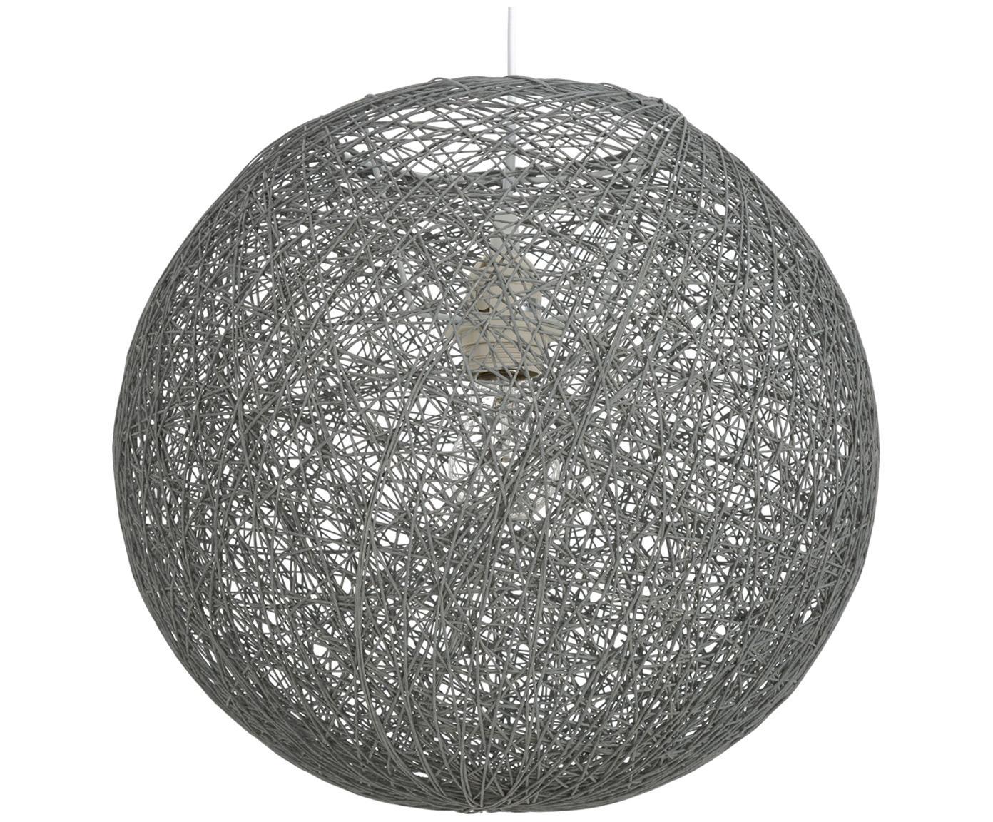 Pendelleuchte Tvist aus Papier, Lampenschirm: Papier, Baldachin: Kunststoff, Grau, Ø 38 x H 36 cm