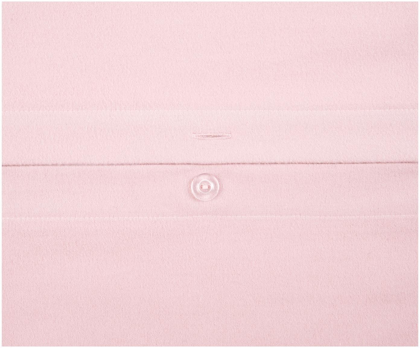 Flanell-Bettwäsche Biba in Rosa, Webart: Flanell, Rosa, 240 x 220 cm