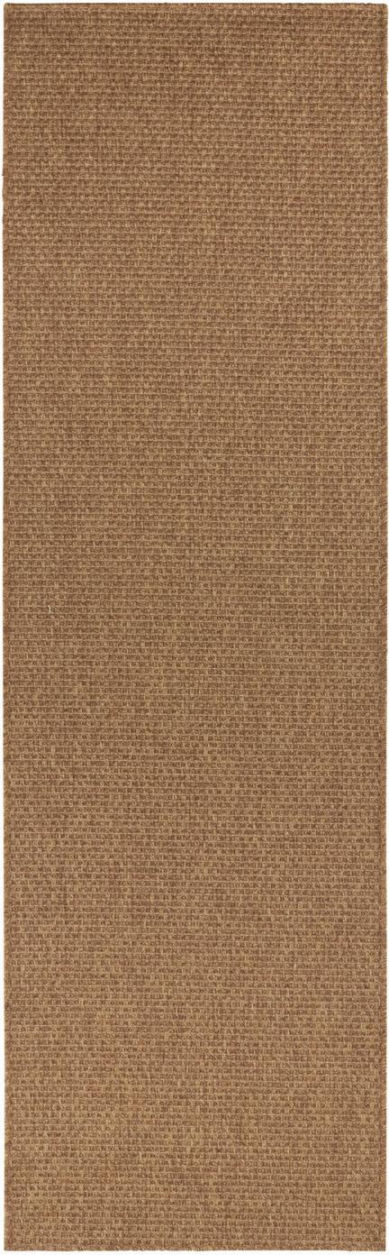 In- & outdoor loper Nature in jute optiek, Polypropyleen, Bruin, 80 x 250 cm