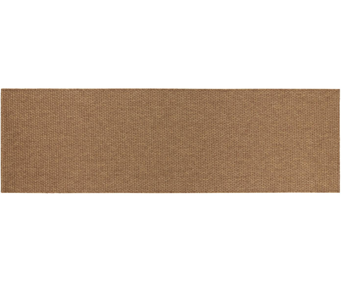 In- & outdoor loper Nature in jute optiek, Polypropyleen, Bruin, 80 x 250 cm
