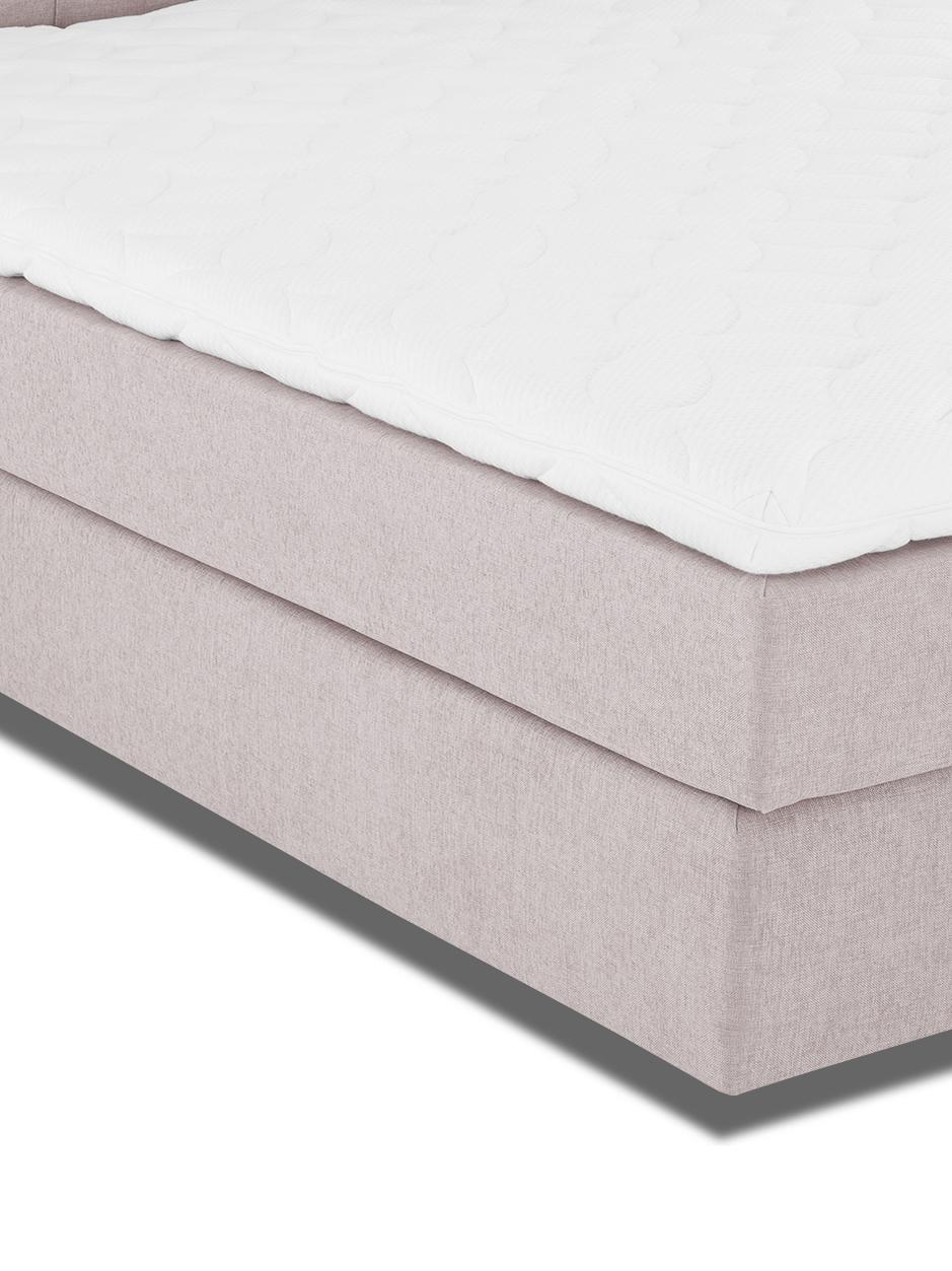Letto boxspring premium Pheobe, Materasso: a molle insacchettate a 7, Piedini: legno di faggio massiccio, Rosa cipria, 200 x 200