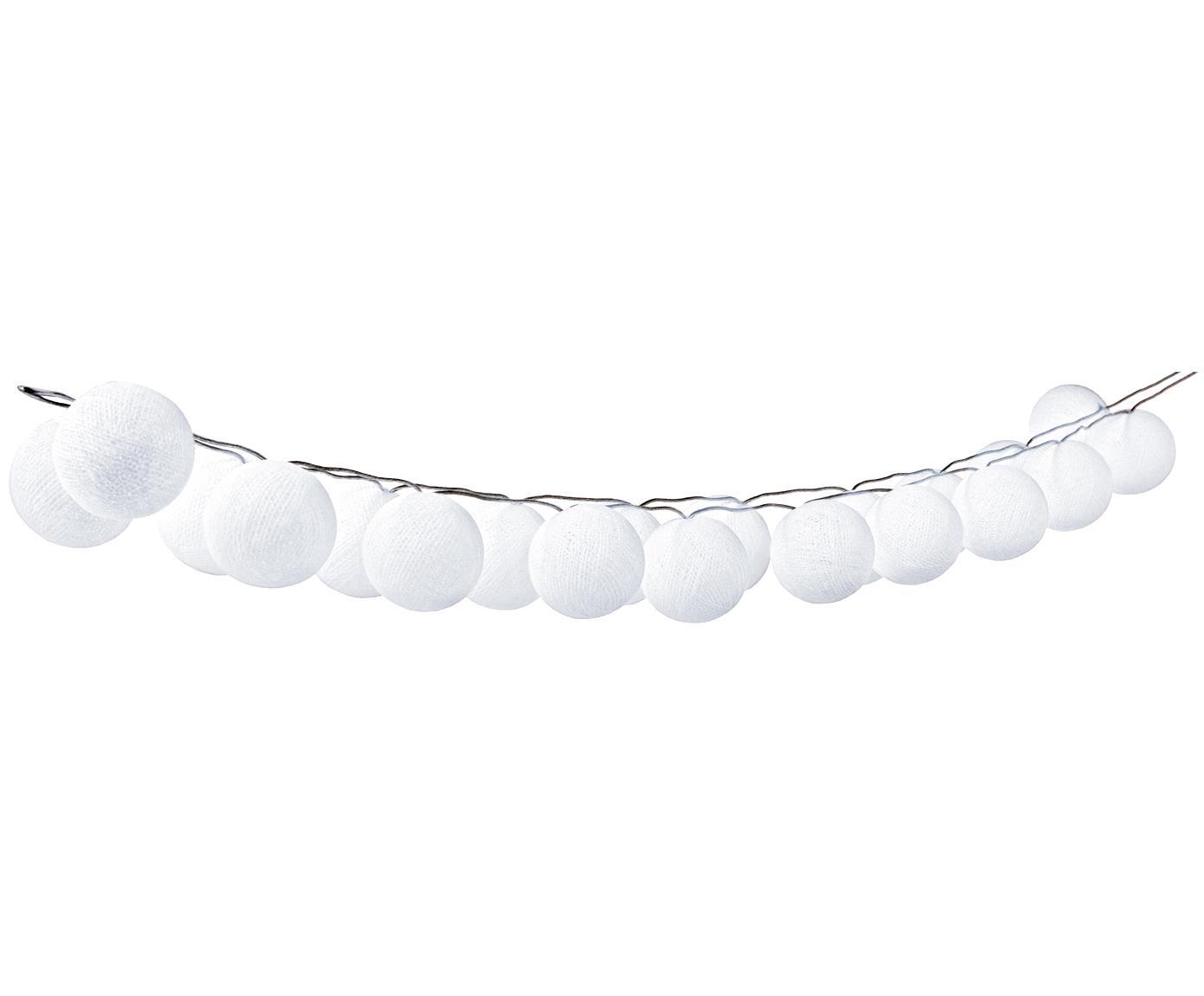 Ghirlanda  a LED Bellin, 320 cm, Lanterne: cotone, Bianco, Lung. 320 cm
