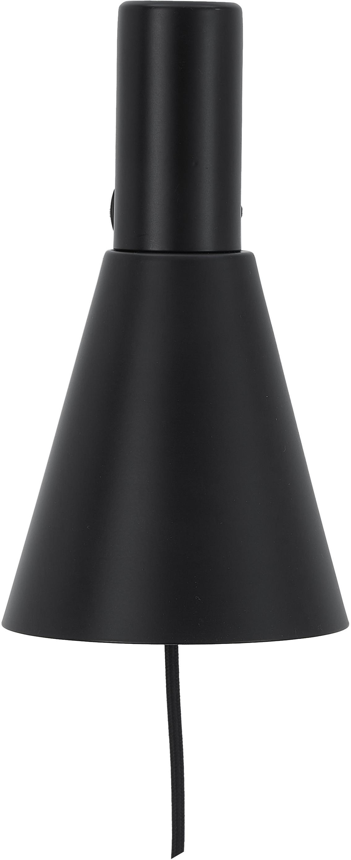 Applique con spina Sia, Paralume: Metallo verniciato a polv, Base della lampada: Metallo verniciato a polv, Nero, Larg. 13 x Alt. 27 cm