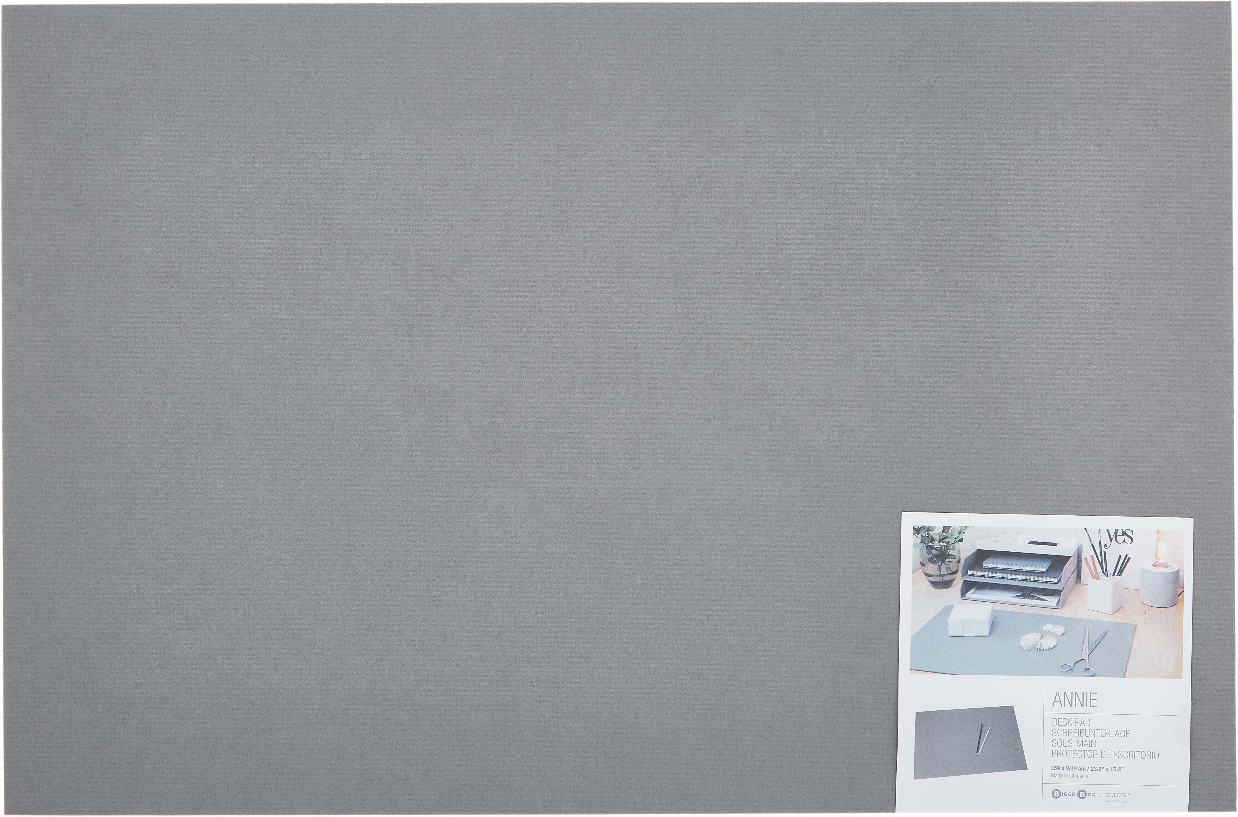 Podkładka na biurko Annie, Tektura laminowana, Szary, S 59 x G 39 cm