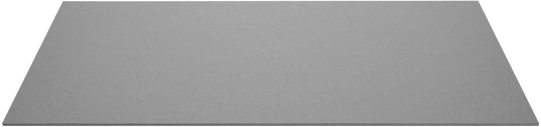 Schreibtischunterlage Annie, Fester, laminierter Karton, Grau, B 59 x T 39 cm