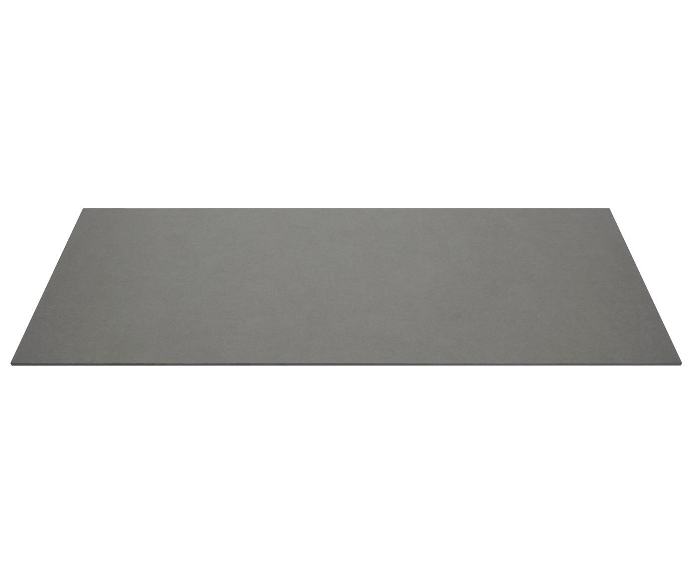 Bureaumat Annie, Massief, gelamineerd karton, Grijs, B 59 x D 39 cm