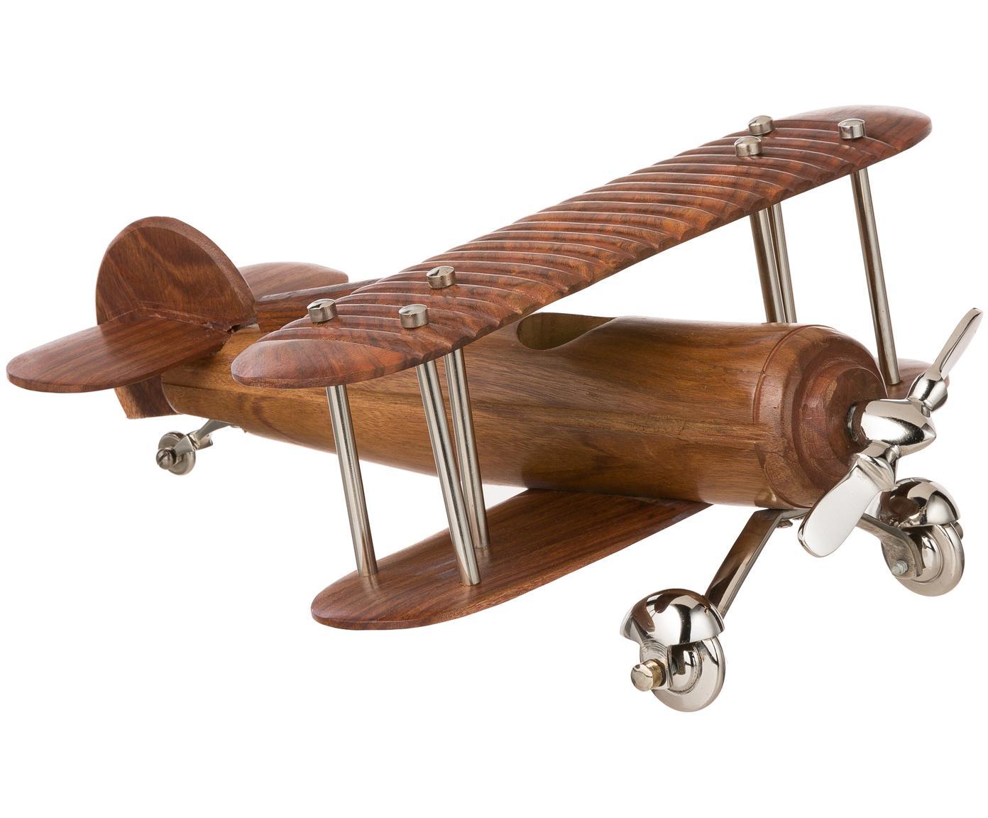 Dekoracja Aviator, Drewno, metal, Brązowy, metal, D 41 x S 33 cm