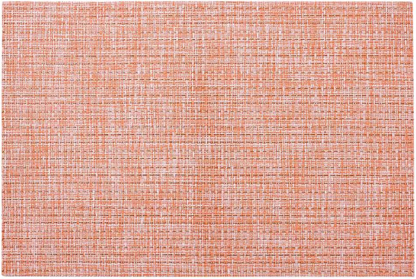 Placemats Lohan, 2 stuks, PVC, PET, Perzikkleurig, 30 x 45 cm