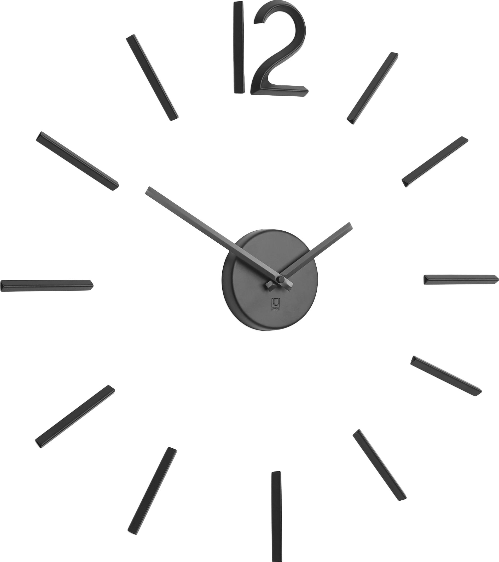 Orologio da parete Blink, Alluminio, verniciato, Nero, Ø 60 cm