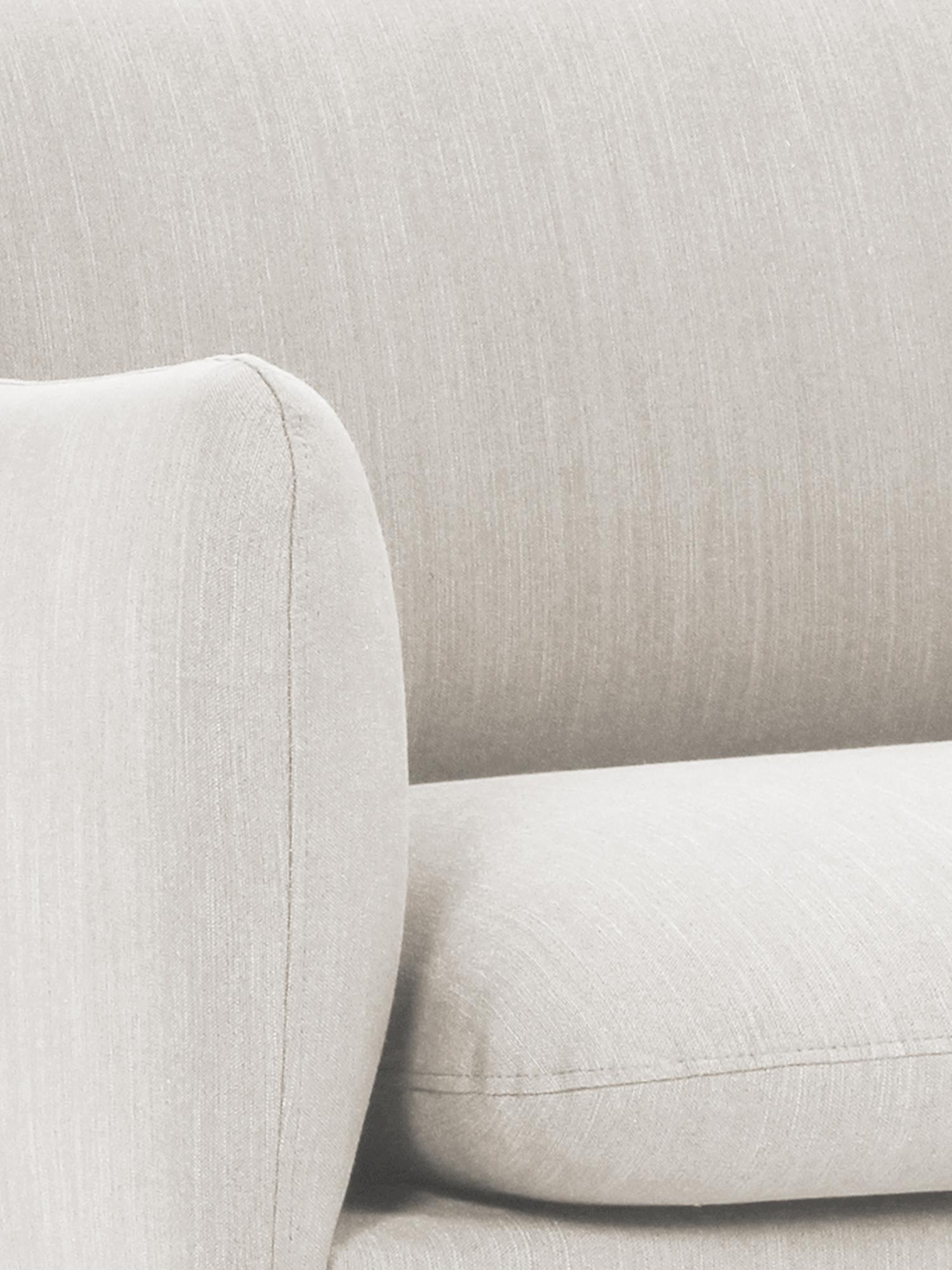 Divano 3 posti in tessuto beige Moby, Rivestimento: poliestere 60.000 cicli d, Struttura: legno di pino massiccio, Piedini: metallo, verniciato a pol, Tessuto beige, Larg. 220 x Prof. 95 cm