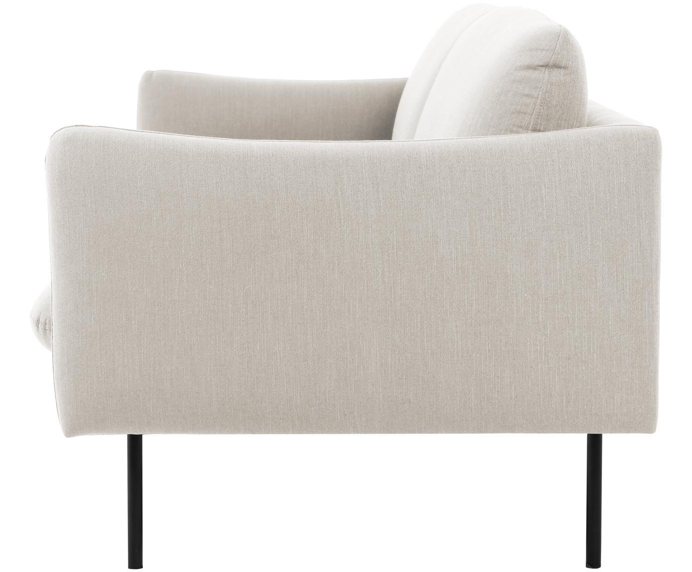Sofa Moby (3-Sitzer), Bezug: Polyester 60.000 Scheuert, Gestell: Massives Kiefernholz, Füße: Metall, pulverbeschichtet, Webstoff Beige, B 220 x T 95 cm