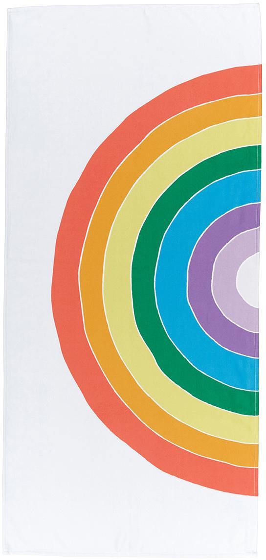 Leichtes Strandtuch Rainbow mit Regenbogen Motiv, 55% Polyester, 45% Baumwolle Sehr leichte Qualität, 340 g/m², Mehrfarbig, 70 x 150 cm